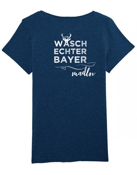 Trachtenshirt Damen div. Farben - Motiv: WBY Madln