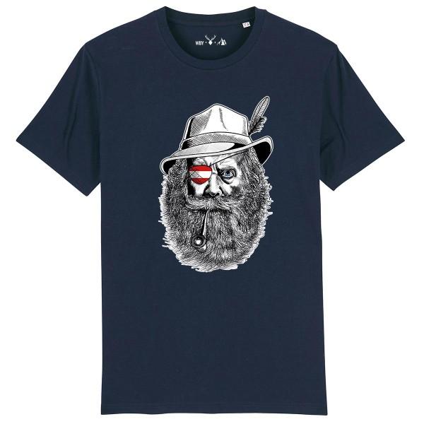 Herren Shirt Rundhals | Fair Wear | BIO | Motiv: Grantler Österreich No. 2