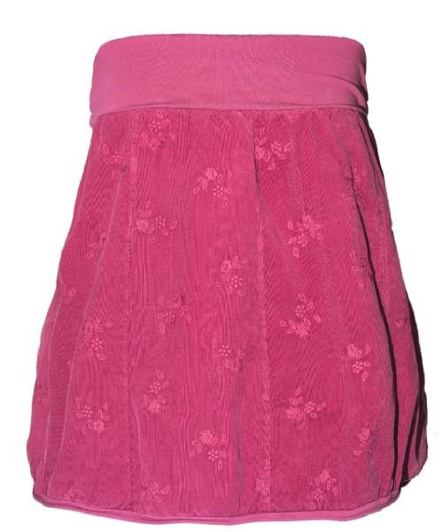 Ballonrock   Baumwolle-Cord-Optik   Bund dehnbar 66-110cm   Farbe Pink