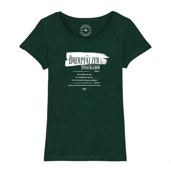 Damen Rundhals T-Shirt   Fair Wear   BIO   Motiv: Oberpfälzer Sprachlabor