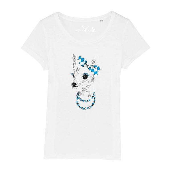 Damen Rundhals T-Shirt | Fair Wear | BIO | Motiv: Boarische Bixn