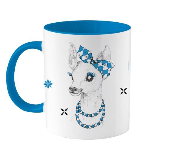 Tasse weiß-blau Boarische Bixn | Super Geschenkidee