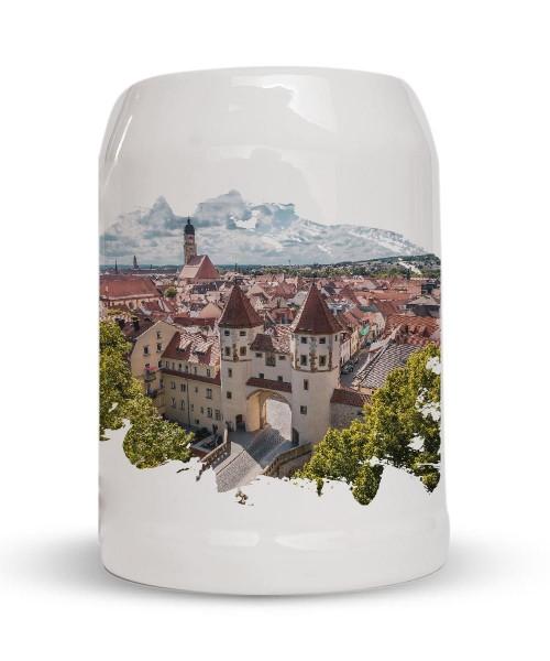 Bierkrug - Steinkrug - Motiv: Nabburger Tor Amberg