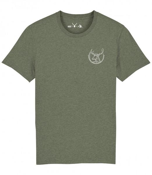 Herren Shirt Rundhals | Fair Wear | BIO | Motiv: Deer out of the Line