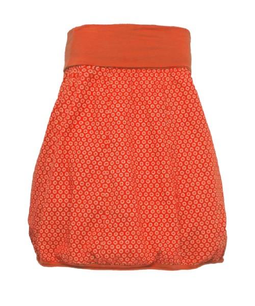 Ballonrock | Baumwolle Gänseblümchen| Bund dehnbar 66-110cm | Farbe Orange