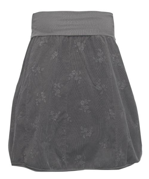 Ballonrock | Baumwolle-Cord-Optik | Bund dehnbar 66-110cm | Farbe Dunkelgrau
