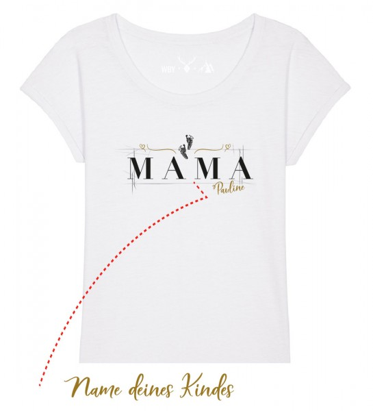 Geburts-Shirt personalisiert Name des Kindes | Fair Wear | BIO | Motiv: Mama