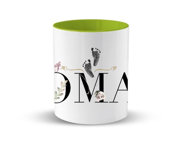 Tasse Keramik Geschenk | in 2 Farben | Motiv: Lieblings Oma