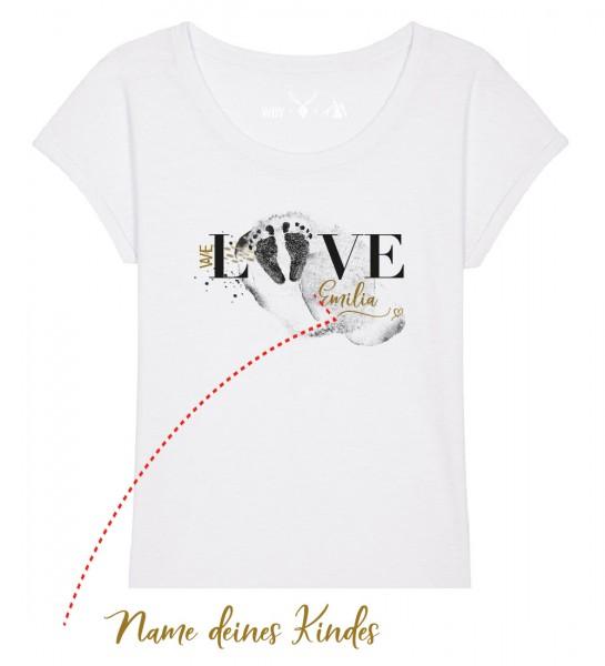 Geburts-Shirt personalisiert Name des Kindes | Fair Wear | BIO | Motiv: Love