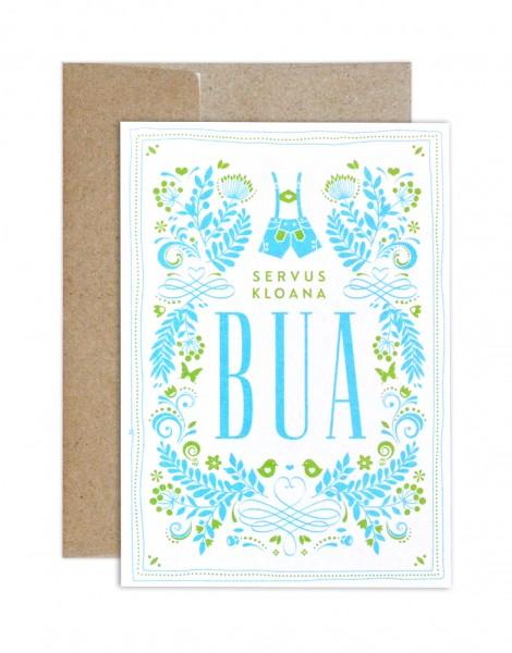Geburts Glückwunschkarte Bua