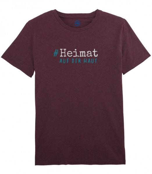 Herren Shirt Rundhals | Fair Wear | Motiv: Heimat auf der Haut petrol