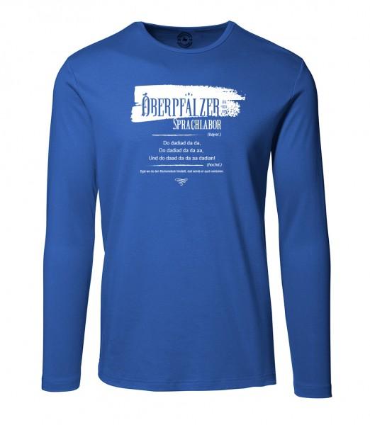 Herren Rundhals Shirt | Langarm – Interlock Jersey Motiv: Oberpfälzer Sprachlabor