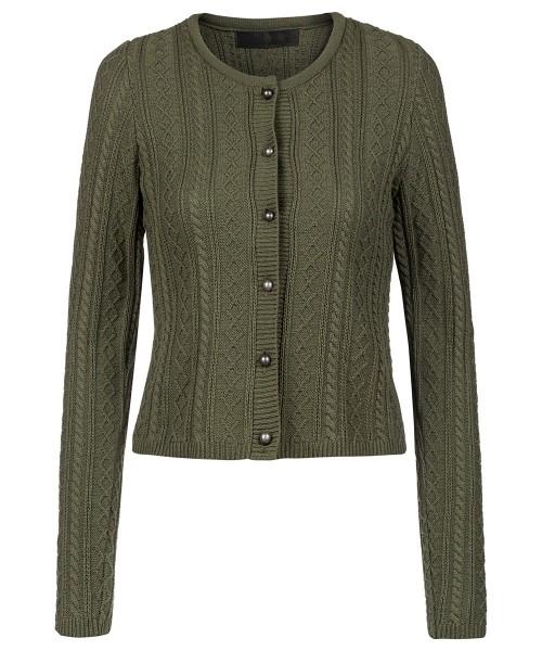 Jacke zu Dirndl | Zopfmuster | grün | Regional gefertigt | Modell: Lydia