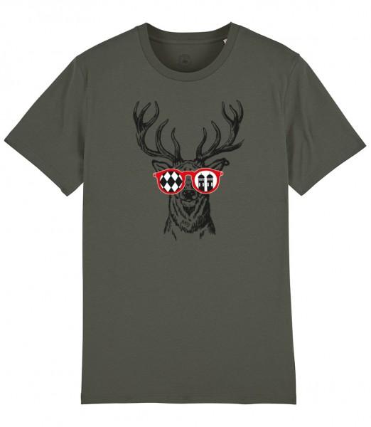 Herren Shirt Rundhals | Fair Wear | Motiv: Munich Deer