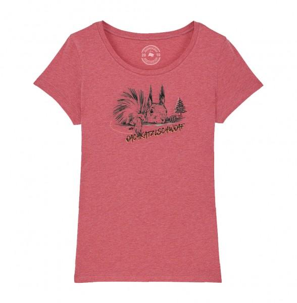 Damen Rundhals T-Shirt | Fair Wear | BIO | Motiv: Oachkatzl
