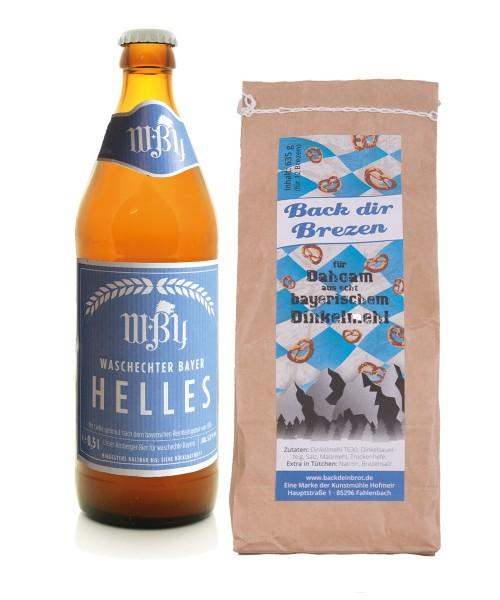 Back dir Brezen und genieße Waschechter Bayer Bier dazu