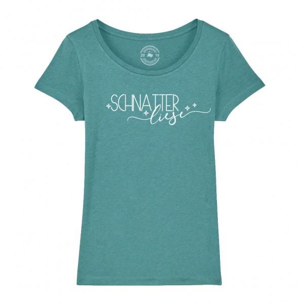 Damen Rundhals T-Shirt | Fair Wear | BIO | Motiv: Schnatterliese