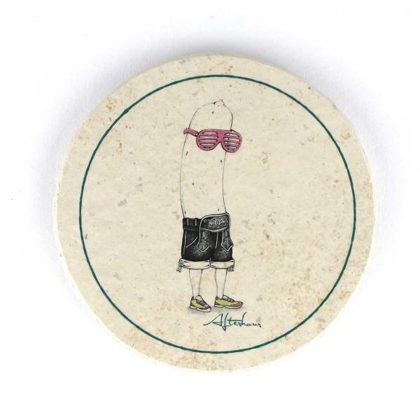 Bierfilz | Steinfützl | Bedruck | Handgefertigt – Motiv Weißwurst Afterhour
