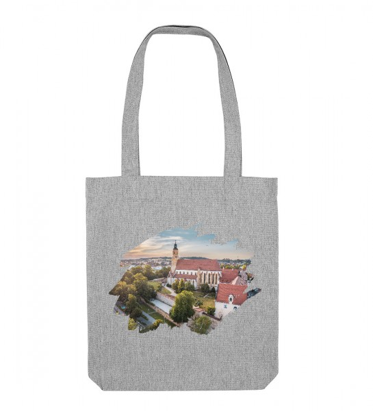 Canvas Tasche hellgrau | Fair Wear | Motiv: Amberg St. Georg
