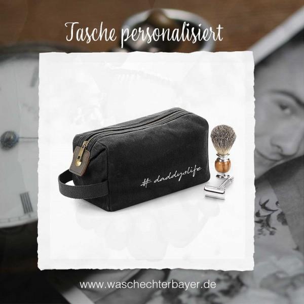 Kulturtasche PAPA (personalisiert) | praktisch | Größe 25x13x11cm