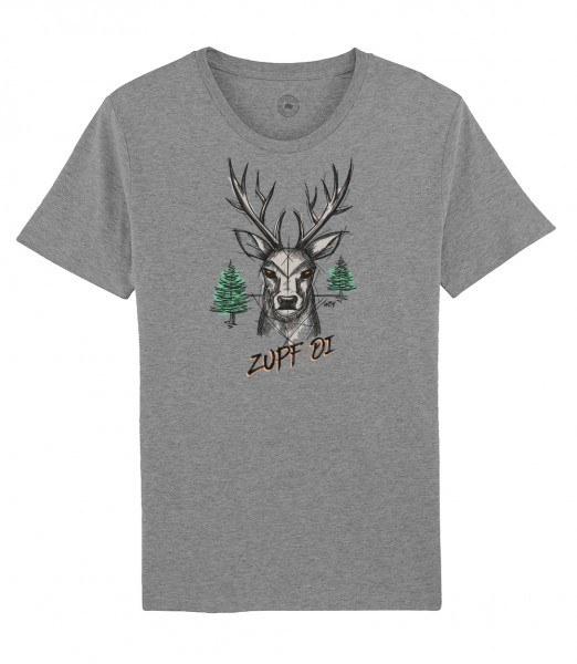 Herren Shirt Rundhals   Fair Wear   Motiv: Zupf di