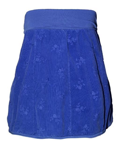 Ballonrock | Baumwolle-Cord-Optik | Bund dehnbar 66-110cm | Farbe Royalblau