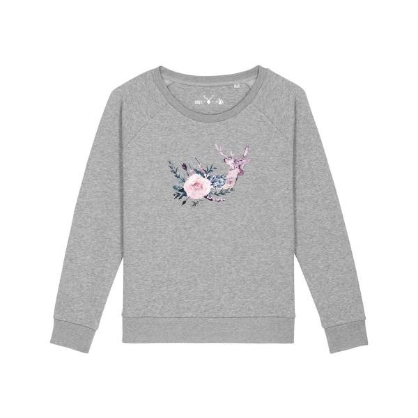 Pullover | Fair Wear | BIO | Motiv: Hirsch-Agnes