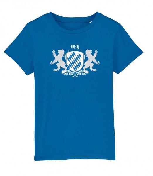 Shirt für Jungs & Mädels | Unisex-Schnitt | Fair Wear | Motiv: Bayern Wappen