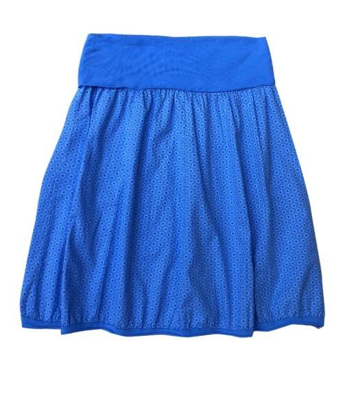 Ballonrock | Baumwolle Gänseblümchen | Bund dehnbar 66-110cm | Farbe Royalblau