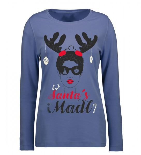 Interlock Weihnachtsshirt Santas Madl