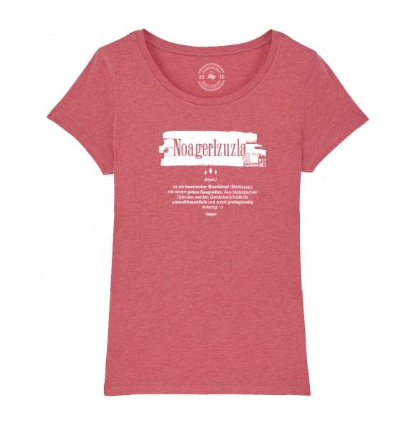 Damen Rundhals T-Shirt | Fair Wear | Motiv: Noagerlzuzla