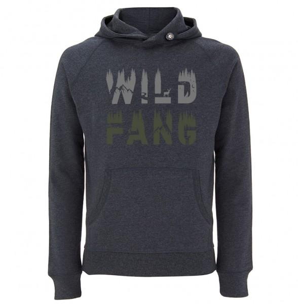 Trachtenhoodie Herren (Unisex) | Fair Wear | Motiv: Wildfang 2-farbig
