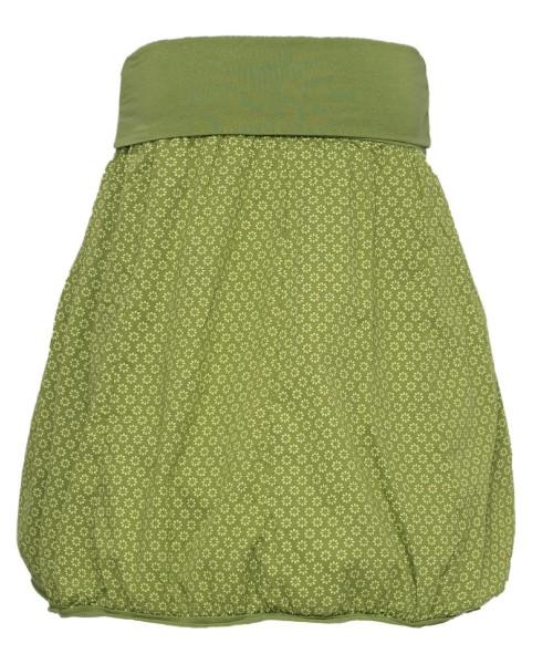 Ballonrock | knielang | Bund dehnbar | Baumwolle | Farbe Grün | 66-110cm Umfang