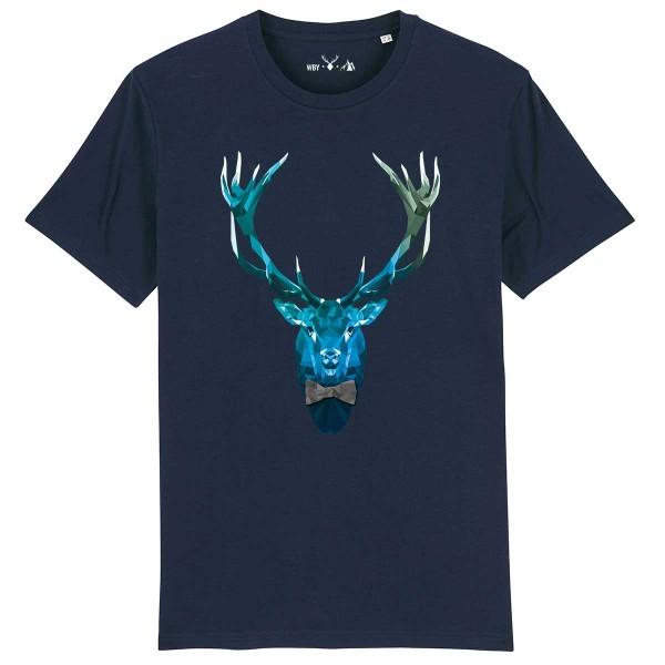 Herren Shirt Rundhals | Fair Wear | BIO | Motiv: Poly-Deer